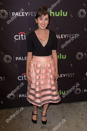 """Stock Photo of Allie Hagan, Co-Executive Producer and Co-Creator of the television series """"Notorious"""" arrives at the 2016 PaleyFest Fall TV Previews at The Paley Center for Media, in Beverly Hills, Calif"""