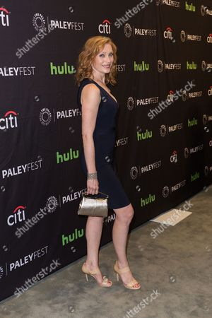 """Kate Jennings Grant, a cast member in the television series """"Notorious,"""" arrives at the 2016 PaleyFest Fall TV Previews at The Paley Center for Media, in Beverly Hills, Calif"""