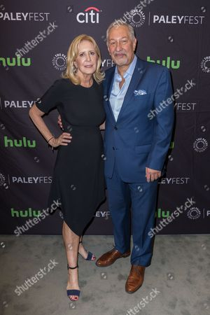 "Stock Picture of Wendy Walker, left, and Mark Geragos, Executive Producers of the television series ""Notorious"" arrive at the 2016 PaleyFest Fall TV Previews at The Paley Center for Media, in Beverly Hills, Calif"
