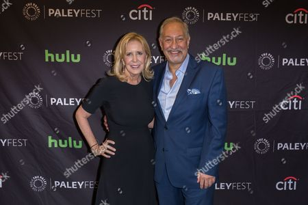 "Wendy Walker, left, and Mark Geragos, Executive Producers of the television series ""Notorious"" arrive at the 2016 PaleyFest Fall TV Previews at The Paley Center for Media, in Beverly Hills, Calif"
