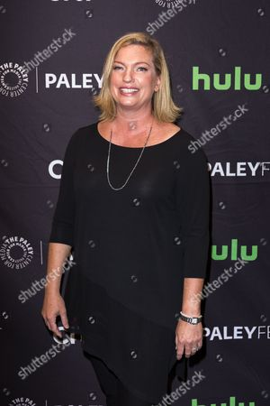 """Stock Image of Sarah Dunn, creator and executive producer of the television series """"American Housewife"""" arrives at the 2016 PaleyFest Fall TV Previews at The Paley Center for Media, in Beverly Hills, Calif"""