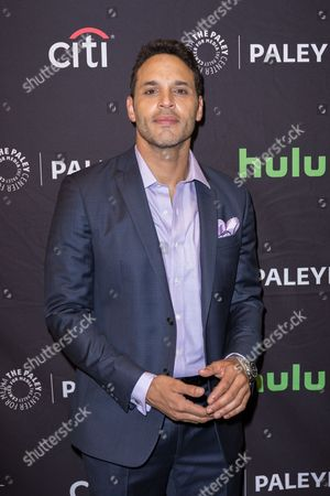 "Daniel Sunjata, a cast member in the television series ""Notorious"" arrives at the 2016 PaleyFest Fall TV Previews at The Paley Center for Media, in Beverly Hills, Calif"