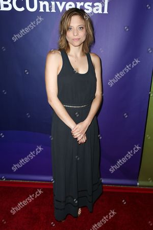 """Stock Photo of Lizzie Brochere, a cast member in the television series """"Falling Water,"""" arrives at the NBCUniversal Television Critics Association summer press tour, in Beverly Hills, Calif"""