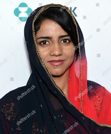 Afghan rapper and activist Sonita Alizadeh arrives at the 7th Annual Women in the World Summit opening night at the David H. Koch Theater, in New York