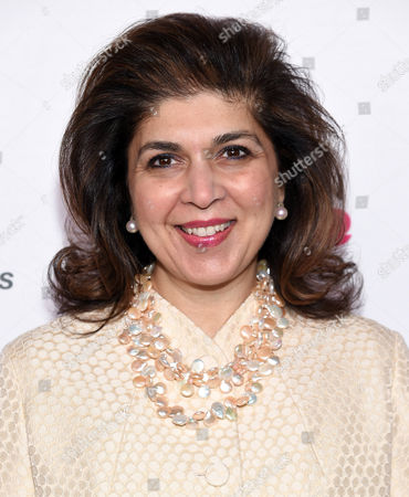 Stock Picture of Former Special Representative to Muslim Communities for the United States Department of State, Farah Pandith arrives at the 7th Annual Women in the World Summit opening night at the David H. Koch Theater, in New York