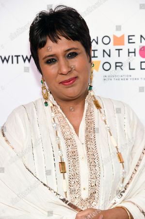 Indian television journalist Barkha Dutt arrives at the 7th Annual Women in the World Summit opening night at the David H. Koch Theater, in New York