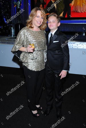 Stock Picture of Hillary Cotton, left, and Mason Vale Cotton attend the 22nd annual Screen Actors Guild Awards at the Shrine Auditorium & Expo Hall, in Los Angeles