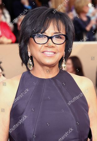 Cheryl Boone Isaacs arrives at the 22nd annual Screen Actors Guild Awards at the Shrine Auditorium & Expo Hall, in Los Angeles