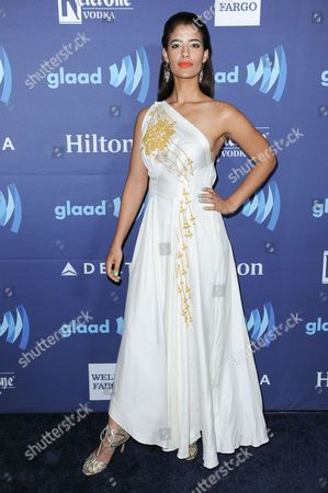 Jessica Clark arrives at the 26th Annual GLAAD Media Awards held at the Beverly Hilton Hotel, in Beverly Hills, Calif
