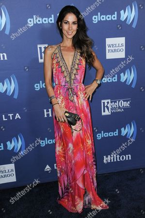 Leilani Dowding arrives at the 26th Annual GLAAD Media Awards held at the Beverly Hilton Hotel, in Beverly Hills, Calif