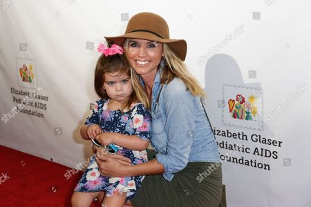 """Stock Image of Maria Sansone, right, arrives at the 27th Annual """"A Time for Heroes"""" Family Festival, in Culver City, Calif"""