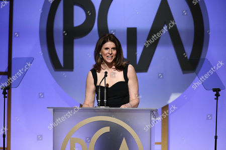 Amy Ziering accepts the Stanley Kramer award for â?œThe Hunting Groundâ?? at the 27th annual Producers Guild Awards at the Hyatt Regency Century Plaza, in Los Angeles