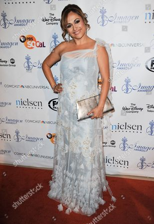Elizabeth Espinosa arrives at the 28th Annual Imagen Awards at the Beverly Hilton Hotel on in Beverly Hills, Calif