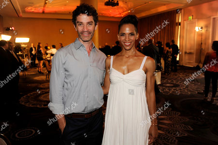 James Frain, left, and Marta Cunningham attend the 29th annual Imagen Awards at the Beverly Hilton Hotel, in Beverly Hills, Calif