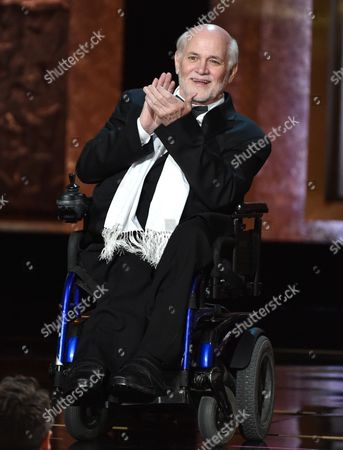 Ron Kovic speaks on stage at the 42nd AFI Lifetime Achievement Award Tribute Gala at the Dolby Theatre, in Los Angeles