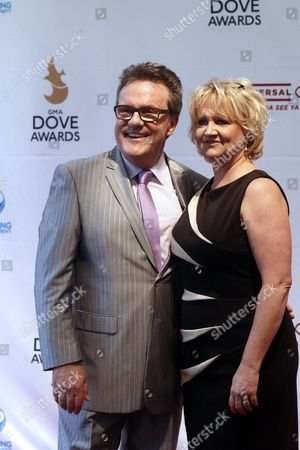 Chonda Pierce and Mark Lowery arrive at the 44th Annual GMA Dove Awards at the Lipscomb University's Allen Arena on in Nashville, Tenn