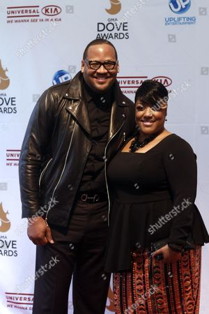 Anita Wilson and Rick Robinson arrive at the 44th Annual GMA Dove Awards at the Lipscomb University's Allen Arena on in Nashville, Tenn