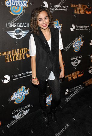 Savannah Jayde attends the 4th Annual Los Angeles Haunted Hayride VIP Premiere Night held at Griffith Park, in Los Angeles