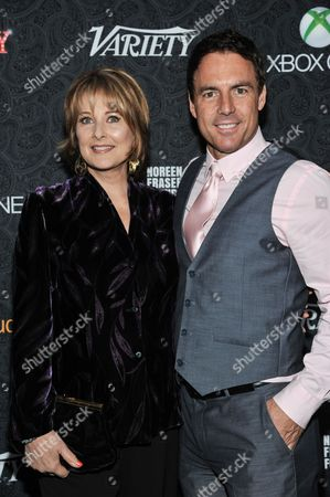Cristina Ferrare, left, and Mark Steines arrive at the 4th Annual Variety's Power of Comedy Event, in Los Angeles