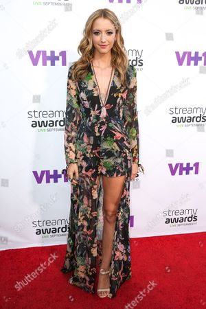 Taryn Southern arrives at the 5th Annual Streamy Awards at the Hollywood Palladium, in Los Angeles