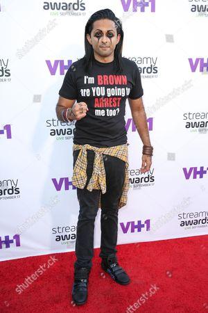 Adi Shankar arrives at the 5th Annual Streamy Awards at the Hollywood Palladium, in Los Angeles