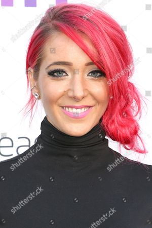Jenna Marbles arrives at the 5th Annual Streamy Awards at the Hollywood Palladium, in Los Angeles