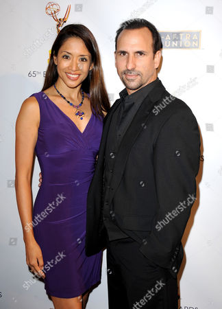 From left, Chuti Tiu and Oscar Torre arrive at the Academy of Television Arts & Sciences Dynami & Diverse 65th Emmy Awards Nominee Celebration, on in North Hollywood, Calif