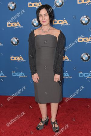 Amy Schatz arrives the 67th Annual DGA Awards, in Los Angeles
