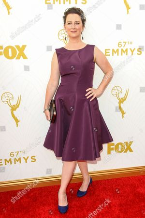 M. Blair Breard arrives at the 67th Primetime Emmy Awards, at the Microsoft Theater in Los Angeles