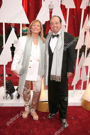Gracinha Leporace, left, and Sergio Mendes arrive at the Oscars, at the Dolby Theatre in Los Angeles