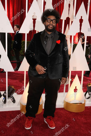 """Ahmir-Khalib Thompson, """"Quest love"""" arrives at the Oscars, at the Dolby Theatre in Los Angeles"""