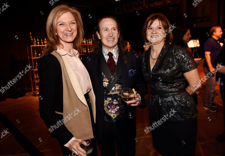 Academy of Motion Picture Arts and Sciences CEO Dawn Hudson, from left, Governors Ball chair Jeffrey Kurland, and event producer Cheryl Cecchetto pose together at the 88th Academy Awards Governors Ball Press Preview, in Los Angeles. The 88th Academy Awards ceremony will be held at the Dolby Theatre in Los Angeles on Sunday, Feb. 28