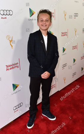 Mason Vale Cotton is seen at A Farewell to Mad Men presented by the Television Academy at The Montalban on in Hollywood, Calif