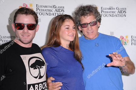 Jake Glaser, from left, Shailene Woodly, and Michael Glaser attend A Time for Heroes celebrity picnic on in Los Angeles