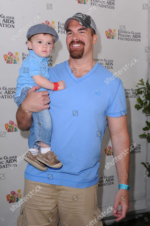 Brandon Molale and his son, Brodie Kealoha Molale attends A Time for Heroes celebrity picnic on in Los Angeles