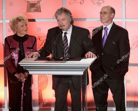 MARCH 1: (L-R) Doris Singleton, Stan Livingston and Barry Livingston onstage at the Academy of Television Arts & Sciences 21st Annual Hall of Fame Ceremony at the Beverly Hills Hotel on in Beverly Hills, California