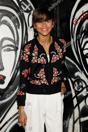 Zendaya Coleman attends the Alice and Olivia's 2014 Fall/Winter presentation during Mercedes Benz Fashion Week, in New York