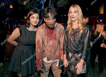 "EXCLUSIVE - Alanna Masterson, left, and Cameron Richardson, right, attend AMC's season 4 premiere of ""The Walking Dead"" at Universal Studios, in Los Angeles"