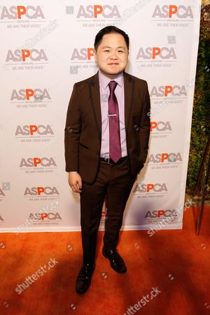 Matthew Moy arrives at the ASPCA Los Angeles Benefit at a private residence in Bel-Air, in Los Angeles