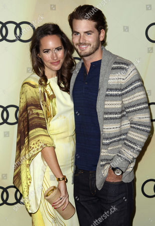 Louise Roe, left, and Josh Slack attend the Audi Golden Globe week kick off party at Cecconi's, in Los Angeles