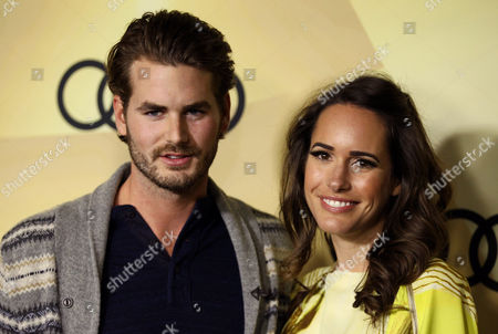 Louise Roe, right, and Josh Slack attend the Audi Golden Globe week kick off party at Cecconi's, in Los Angeles