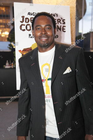 """Lamman Rucker poses during the arrivals for the opening night performance of August Wilson's """"Joe Turner's Come and Gone"""" at CTG/Mark Taper Forum, in Los Angeles, Calif"""