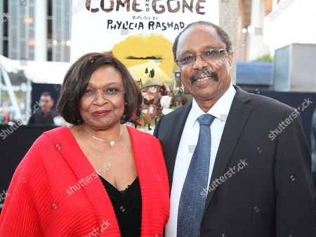 "Stock Photo of From left, Hattie Winston and Harold Wheeler pose during the arrivals for the opening night performance of August Wilson's ""Joe Turner's Come and Gone"" at CTG/Mark Taper Forum, in Los Angeles, Calif"