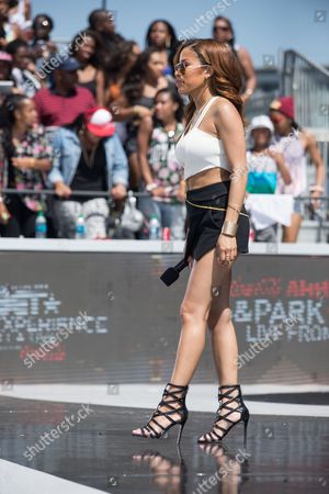 Keshia Chante appears onstage at the BET Experience - 106 and Park Live, in Los Angeles