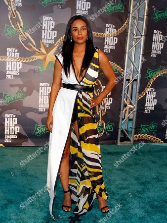 Stock Image of Claudette Ortiz walked the red carpet at the 2013 BET Hip Hop Awards at the Atlanta Civic Center, in Atlanta, Ga