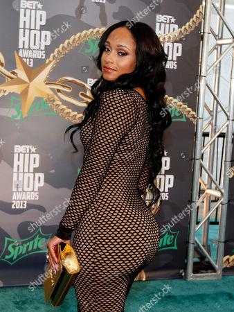 Tahiry walked the red carpet at the 2013 BET Hip Hop Awards at the Atlanta Civic Center, in Atlanta, Ga