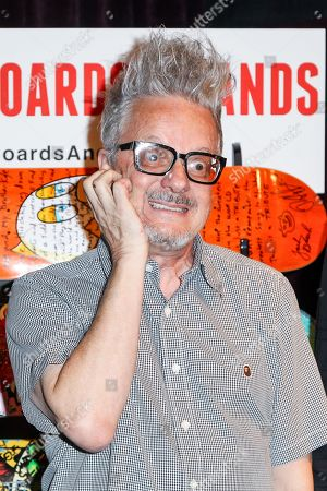 Musician Mark Mothersbaugh attends the Boards and Bands Auction press conference held at The London West Hollywood on in West Hollywood, Calif