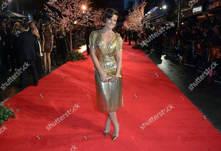 """Sarah Owen arrives at the 57th BFI London Film Festival Closing Night Gala and """"Saving Mr Banks"""" European Premiere at the Odeon West End,, in London"""