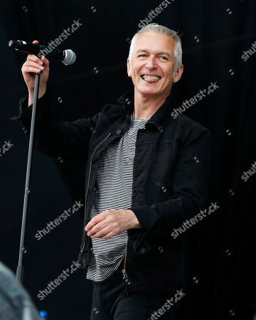Danny Bowes of the British band Thunder, performs at the Calling festival in London, . Thousands of music fans are expected at the weekend's festival to see acts such as Aerosmith and Stevie Wonder