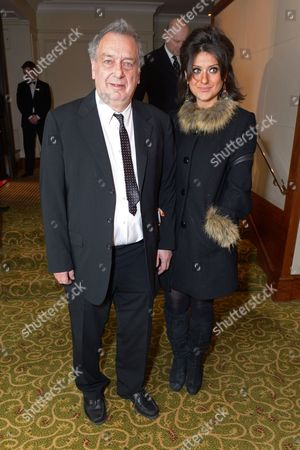 Stephen Frears and Anne Rothenstein attend the EE British Academy Film Awards Official After Party at the Grosvenor House Hotel, in London